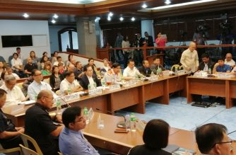 The Senate committee on public services on Tuesday, March 19, began its probe into the water shortage that affected several Manila Water customers in recent days./Meanne Corvera/Eagle News Service/