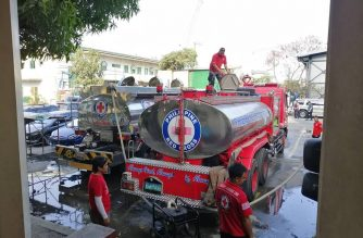 Philippine Red Cross water tankers are deployed to several government hospitals to help the Department of Health (DOH) in addressing the severe water interruptions being experienced in areas covered by Manila Water Company.  (Photo courtesy Philippine Red Cross)