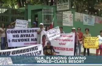 DENR sinugod ng mga tumututol sa land conversion sa Sicogon Island, Iloilo