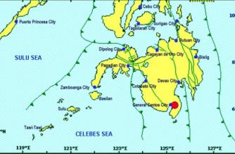 A 5.6-magnitude earthquake struck Sarangani on Saturday, March 16./PHIVOLCS/