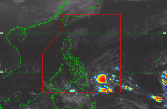 "Several areas under Signal No. 1 as ""Chedeng"" slowed down while maintaining its strength on Monday, March 18./PAGASA/"