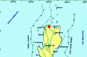 A 4.6-magnitude quake struck Ilocos Norte on Monday, March 18./PHIVOLCS/