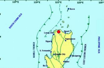 A 4.6-magnitude quake struck Ilocos Norte on Monday, March 18./PHIVOLCS/