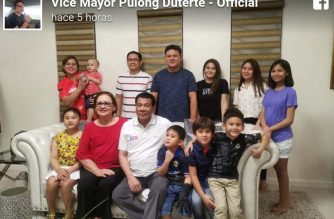 This picture posted on former Davao Vice Mayor Paolo Duterte's Facebook page shows President Rodrigo Duterte with his family. The Palace has said the chief executive would spend his 74th birthday in Davao./Paolo Duterte Facebook/