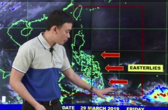 Rains are expected in parts of the country as the easterlies affect