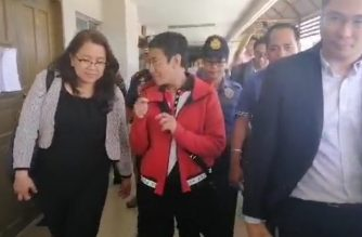 Rappler chief executive officer Maria Ressa leaves Branch 265 of the Pasig Regional Trial Court after posting the P90,000 bail for the charge for violation of the Anti-Dummy Law./Meanne Corvera/Eagle News/