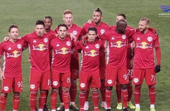 The New York Red Bulls pose for a photo at their game against the Orlando City SC. Photo by Tennie Sumague, EBC New York, Eagle News Service.
