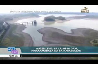 Record low water level in La Mesa Dam noted as hot weather persists