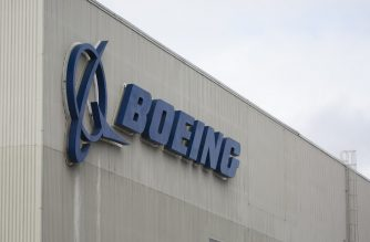 (FILES) In this file photo taken on March 12, 2019 the Boeing logo is pictured at the Boeing Renton Factory in Renton, Washington. (Photo by Jason Redmond / AFP)