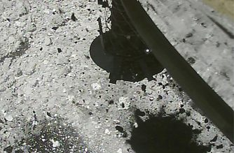 "(FILES) This file handout photo received from the Hayabusa2 spacecraft and made available by the Japan Aerospace Exploration Agency (JAXA) on March 6, 2019 shows stone and sand after bullets were fired into the surface to collect data by the Hayabusa2 spacecraft after landing on the asteroid Ryugu. - A Japanese probe on April 5, 2019 launched an explosive device at an asteroid, aiming to blast a crater in the surface and scoop up material that could shed light on how the solar system evolved. (Photo by Handout / JAXA / AFP) / --- RESTRICTED TO EDITORIAL USE - MANDATORY CREDIT ""AFP PHOTO / JAXA"" - NO MARKETING NO ADVERTISING CAMPAIGNS - DISTRIBUTED AS A SERVICE TO CLIENTS ---"