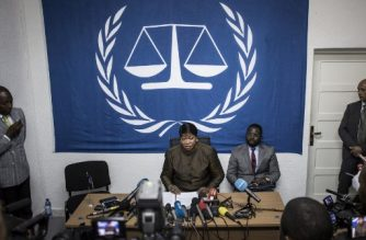 (FILES) This file photo taken on May 3, 2018 during a press conference in Kinshasa shows ICC chief prosecutor Fatou Bensouda whose office said on Arpil 5, 2019, the United States has revoked her visa over a possible investigation of American soldiers' actions in Afghanistan. (Photo by John WESSELS / AFP)