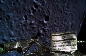 "A handout picture released by SpaceIL and Israel Aerospace Industries (IAI) on April 11, 2019, shows a picture taken by the camera of the Israel Beresheet spacecraft, of the moons surface as the craft approaches and before it crashed during the landing. - Israel's attempt at a moon landing failed at the last minute Thursday when the craft suffered an engine  failure as it prepared to land and apparently crashed into the lunar surface. (Photo by - / AFP) / == RESTRICTED TO EDITORIAL USE - MANDATORY CREDIT ""AFP PHOTO / HO / Israeli Aerospace Industries (IAI)"" - NO MARKETING NO ADVERTISING CAMPAIGNS - DISTRIBUTED AS A SERVICE TO CLIENTS =="