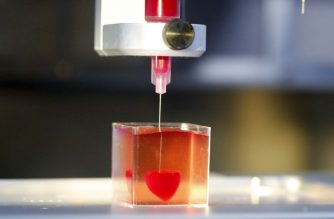 "This photo taken on April 15, 2019 at the University of Tel Aviv shows a 3D print of heart with human tissue. - Scientists in Israel on Monday unveiled a 3D print of a heart with human tissue and vessels, calling it a first and a ""major medical breakthrough"" that advances possibilities for transplants. (Photo by JACK GUEZ / AFP)"