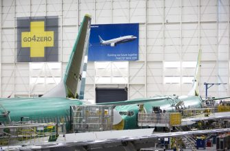 "(FILES) In this file photo taken on March 27, 2019 Boeing 737 MAX airplanes are pictured at the Boeing Renton Factory in Renton, Washington. - Changes that US aircraft manufacturer Boeing has proposed in the wake of two deadly accidents of its top-selling 737 MAX aircraft are ""suitable,"" a government source said on April 16, 2019. (Photo by Jason Redmond / AFP)"
