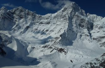 "This handout photograph obtained April 22, 2019 courtesy of Parks Canada shows Howse Peak in Banff National Park, Canada, onm April 20, 2019. - The bodies of three world-renowned professional mountaineers -- two Austrians and an American -- were found Sunday, April 21,2019 after they went missing during an avalanche on a western Canadian summit, the national parks agency said. American Jess Roskelley, 36, and Hansjorg Auer, 35, and David Lama, 28, of Austria went missing late Tuesday, April 16, 2019 attempting to climb the east face of Howse Peak at Banff National Park. Authorities launched an aerial search the next day. The three men were attempting to climb the east face of Howse Pass, an isolated and highly difficult route. (Photo by Handout / PARKS CANADA / AFP) / == RESTRICTED TO EDITORIAL USE  / MANDATORY CREDIT:  ""AFP PHOTO /  PARKS CANADA "" / NO MARKETING / NO ADVERTISING CAMPAIGNS /  DISTRIBUTED AS A SERVICE TO CLIENTS  =="