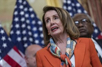 WASHINGTON, DC - APRIL 09: House Speaker Nancy Pelosi, (D-CA) speaks during a ceremonial bill enrollment for legislation which would end U.S. involvement in the war in Yemen on April 9, 2019 in Washington, DC. President Donald Trump has said that he would veto the legislation if passed.   Alex Edelman/Getty Images/AFP