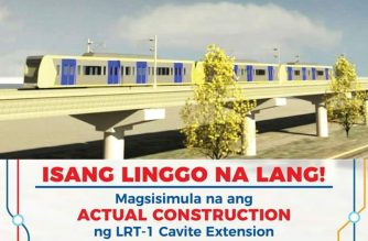The construction of the LRT Line 1 Cavite extension is slated to begin on Wednesday, May 8./DOTr/