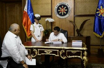 President Rodrigo Duterte has signed the 2019 budget bill into law, but vetoed P95.3 billion worth of items and subjected several provisions to conditional implementation to ensure conformity with existing laws, the Palace said./Palace/