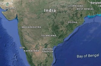 Map of India.  (Courtesy Google maps)