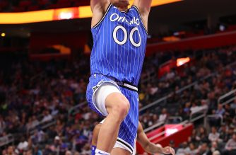 (File photo) - Aaron Gordon #00 of the Orlando Magic dunks in the first half while playing the Detroit Pistons at Little Caesars Arena on March 28, 2019 in Detroit, Michigan.  Gregory Shamus/Getty Images/AFP