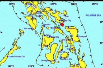 A 2.0-magnitude earthquake struck Sorsogon on Wednesday, April 10./PHIVOLCS/