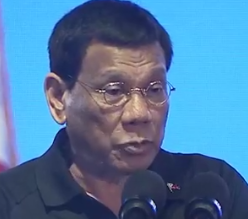 "President Rodrigo Duterte on Thursday, April 11, said he would outright veto the entire budget bill for 2019 ""pagka talagang tagilid iyan.""/RTVM/"