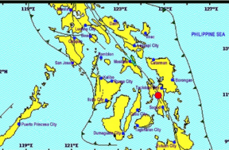 A 4.4-magnitude earthquake struck Leyte on Friday, April 26./PHIVOLCS/