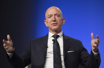 Amazon and Blue Origin founder Jeff Bezos provides the keynote address at the Air Force Association's Annual Air, Space & Cyber Conference in Oxen Hill, MD, on September 19, 2018. (Photo by Jim WATSON / AFP)