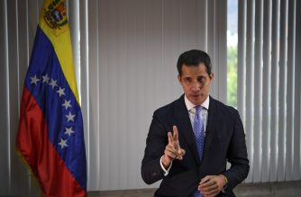 Venezuelan opposition leader and self-declared president Juan Guaido offers an interview to AFP in Caracas on May 6, 2019. - 'We're very close to achieving change in Venezuela,' Guaido tells AFP. (Photo by Yuri CORTEZ / AFP)