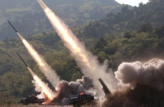 "This May 9, 2019 picture released from North Korea's official Korean Central News Agency (KCNA) on May 10, 2019 shows rocket launchers firing during the strike drill of defence units of the Korean People's Army (KPA) in the forefront area and on the western front of North Korea. (Photo by KCNA VIA KNS / various sources / AFP) / South Korea OUT / ---EDITORS NOTE--- RESTRICTED TO EDITORIAL USE - MANDATORY CREDIT ""AFP PHOTO/KCNA VIA KNS"" - NO MARKETING NO ADVERTISING CAMPAIGNS - DISTRIBUTED AS A SERVICE TO CLIENTS / THIS PICTURE WAS MADE AVAILABLE BY A THIRD PARTY. AFP CAN NOT INDEPENDENTLY VERIFY THE AUTHENTICITY, LOCATION, DATE AND CONTENT OF THIS IMAGE --- /"