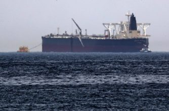 "A picture taken on May 13, 2019, shows the crude oil tanker, Amjad, which was one of two Saudi reported tankers that were damaged  in mysterious ""sabotage attacks"", off the coast of the Gulf emirate of Fujairah. - Saudi Arabia said two of its oil tankers were damaged in mysterious ""sabotage attacks"" in the Gulf as tensions soared in a region already shaken by a standoff between the United States and Iran. (Photo by KARIM SAHIB / AFP)"
