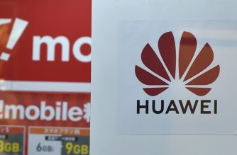 This picture shows the logo of Chinese telecoms giant Huawei is displayed at an electronics store in Tokyo on May 23, 2019. - Japan's Panasonic on May 23, 2019 said it would stop supplying some components to Huawei, joining a growing list of firms distancing themselves from the Chinese telecoms giant after a US ban over security concerns. (Photo by Kazuhiro NOGI / AFP)
