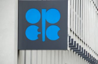 The Organization of the Petroleum Exporting Countries (OPEC) logo is pictured at OPEC's headquarters in Vienna, on September 22, 2017. (Photo by JOE KLAMAR / AFP)