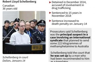 Canadian man fights China death penalty in appeal