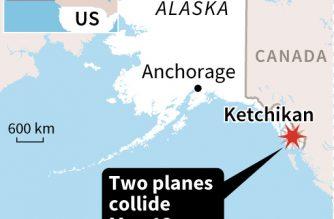 Five dead, one missing in floatplanes collision in Alaska