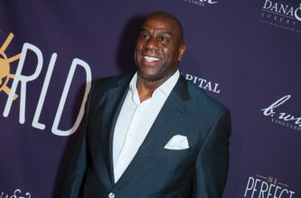 WEST HOLLYWOOD, CALIFORNIA - MARCH 03: Earvin Magic Johnson attends Manuela Testolini And Eric Bent Present An Evening Of Music, Art And Philanthropy Benefiting In A Perfect World Honoring Prince - Arrivals at The Jeremy Hotel on March 03, 2019 in West Hollywood, California.   Leon Bennett/Getty Images/AFP