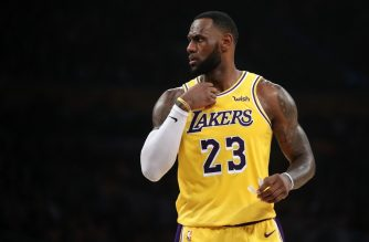 LOS ANGELES, CALIFORNIA - MARCH 04: LeBron James #23 of the Los Angeles Lakers looks on during the first half of a game against the Los Angeles Clippers at Staples Center on March 04, 2019 in Los Angeles, California.   Sean M. Haffey/Getty Images/AFP