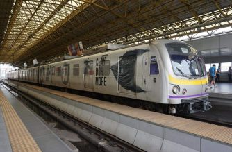 LRT2 trains./LRT-2 Facebook page/