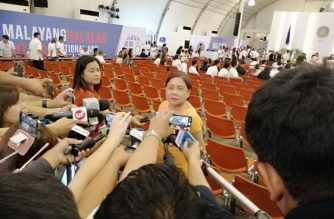 Senator-elect Cynthia Villar arrives at the PICC on Wednesday, May 22./Meanne Corvera/Eagle News/