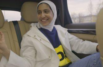 Rayouf Alhumedhi, creator of the hijab emoji, in Vienna. Photographer: Lucy Martens. Courtesy: Emma Griffiths PR.