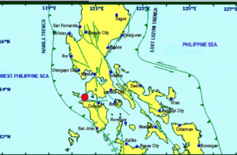 A 4.2-magnitude earthquake struck Batangas on Thursday, May 9./PHIVOLCS/