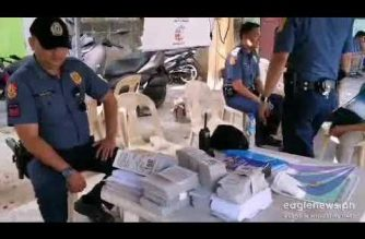 Look:  PNP confiscates sample ballots, flyers in Sauyo elementary school