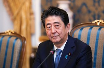 """In this handout picture released by the Iranian Presidency, Japanese Prime Minister Shinzo Abe meets with Iranian President at the Saadabad Palace in the capital Tehran on June 12, 2019. - Abe arrived in Tehran on June 12 for a rare diplomatic mission, hoping to defuse tensions between the Islamic republic and Tokyo's ally Washington. (Photo by - / Iranian Presidency / AFP) / XGTY / === RESTRICTED TO EDITORIAL USE - MANDATORY CREDIT """"AFP PHOTO / HO / IRANIAN PRESIDENCY"""" - NO MARKETING NO ADVERTISING CAMPAIGNS - DISTRIBUTED AS A SERVICE TO CLIENTS ==="""