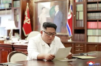 "This undated and unlocated picture released from North Korea's official Korean Central News Agency (KCNA)on June 23, 2019 shows North Korean leader Kim Jong Un reading a personal letter from President of the United States of America Donald Trump. (Photo by KCNA VIA KNS / KCNA VIA KNS / AFP) / - South Korea OUT / ---EDITORS NOTE--- RESTRICTED TO EDITORIAL USE - MANDATORY CREDIT ""AFP PHOTO/KCNA VIA KNS"" - NO MARKETING NO ADVERTISING CAMPAIGNS - DISTRIBUTED AS A SERVICE TO CLIENTS / THIS PICTURE WAS MADE AVAILABLE BY A THIRD PARTY. AFP CAN NOT INDEPENDENTLY VERIFY THE AUTHENTICITY, LOCATION, DATE AND CONTENT OF THIS IMAGE --- /"