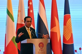 Thailand's Prime Minister Prayut Chan-O-Cha speaks during a press conference at the end of the 34th Association of Southeast Asian Nations (ASEAN) summit in Bangkok on June 23, 2019. (Photo by Romeo GACAD / AFP)