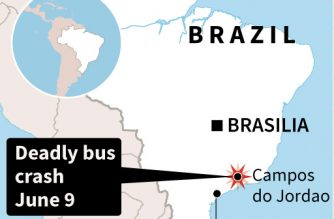 Brazil bus accident kills 17