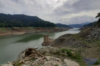 Angat Dam's water level continued to go down beyond its critical level of 160 meters.  In this photo taken by Eagle News Service reporter Earlo Bringas on Thursday morning, June 27, 2019, areas and embankment that were previously submerged are now   exposed as the water level in Angat Dam continued to drop.  As of Thursday morning, June 27, the water level in Angat Dam was recorded at 158.15 meters. (Photo by Earlo Bringas/Eagle News Service)