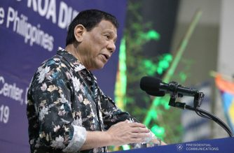 President Rodrigo Duterte delivers his speech during the 2019 Eid'l Fitr Celebration at the Arcadia Active Lifestyle Center in Davao City on June 6, 2019. TOTO LOZANO/PRESIDENTIAL PHOTO