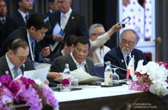 President Rodrigo Roa Duterte joins other leaders from the Brunei Darussalam-Indonesia-Malaysia-Philippines - East ASEAN Growth Area (BIMP-EAGA) during the13th BIMP-EAGA Summit at The Athenee Hotel in Bangkok, Thailand on June 23, 2019. SIMEON CELI JR./PRESIDENTIAL PHOTO