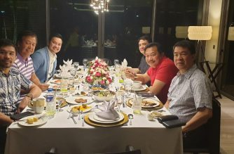PDP-Laban officials led by Senate President Koko Pimentel, party president, had a meeting with three PDP-Laban Speaker contenders on Tuesday, June 11./Ron Munsayac/PDP-Laban/